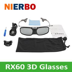 Active shutter 3D glasses Can be used with nearsighted glasses ABS PC material projector 3D TV glasses 3D cinema Beamer Theater