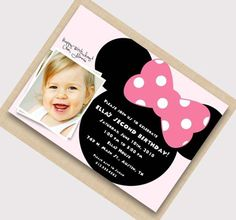 Minnie Mouse birthday party invitation ideas 3