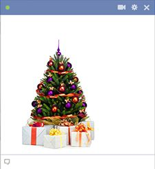 Christmas tree emoticon for Facebook chat