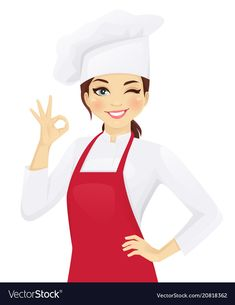 Chef woman gesturing ok Royalty Free Vector Image Logo Chef, Chef Images, Cartoon Chef, Kitchen Logo, Cake Logo Design, Cute Cartoon Girl, Bakery Logo, Logo Food, Illustration Girl