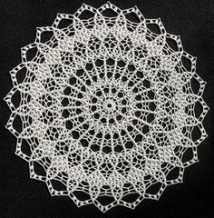 Brocade #A-792 - free vintage archived crochet doily pattern by Coats & Clark.
