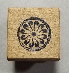 Deco Circle Rubber Stamp Magenta #14157D #Magenta #Background