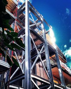 #Struttura in #acciaio per #ascensore esterno relativa ad un #progetto di #ristrutturazione di #casa #unifamiliare | Catania.Sicilia.Italia