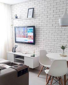 Living Room Colors, Home Living Room, Living Room Decor, Small Apartment Interior, Interior Design Living Room, Bedroom Wall Designs, My Ideal Home, House Rooms, Decoration