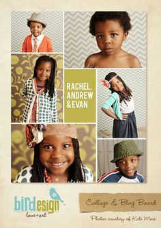 Blog Board & 16x20 Collage Template - Basic collage - E258. $8.00, via Etsy.