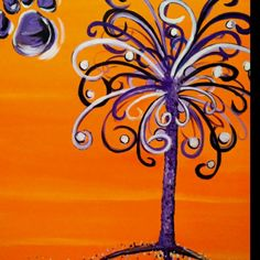 @Betsy Spencer This would be cute painted on you plank boards!! Minus the clemson paw lol. Just the crescent moon!