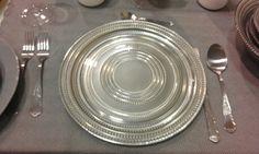 Vassoi in vetro argento bellissimi lavorati a mano cm 30  euro 15