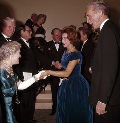 Princess Margaret at a charity gala in London circa 1962