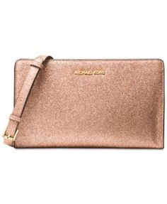 ae92366a43e6 MICHAEL KORS Michael Michael Kors Large Crossbody Clutch. #michaelkors #bags  #polyester #leather #clutch #shoulder bags #lining #hand bags #glitter #