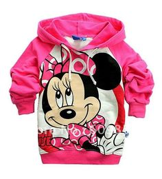 Free shipping New baby clothing Children's Clothing Minnie Mouse Cartoon Fleece T-shirt/Girl's Long Sleeve T-shirt//Outerwear on AliExpress.com. $85.00