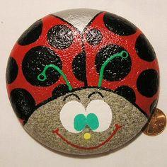 ladybug painted rocks - Google Search