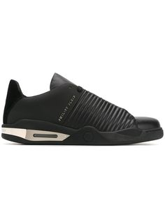 Philipp Plein 'Jeaopardy' sneakers.  This brand is a bunch of biters but I guess things change. Refreshing.