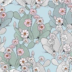 "Special for  @patternbank ""Cactuses"" available for purchase from -> https://patternbank.com/maspram #pattern #patternbank #newonpatternbank #flowers  #cactus #cactuses #design #art #patternstudio #nature #floral #plants #textiledesign #textiledesigner #surfacedesign #surfacepattern #succulents"
