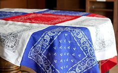 Simple and inexpensive way to add patriotic charm to any country decor!