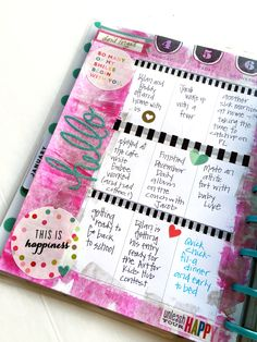 paint January week in The Happy Planner™ of mambi Design Team member Casie Gutierrez \ me & my BIG ideas