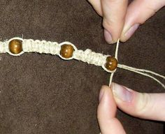 How to Make a Hemp Necklace  (feel free to take other ribbons as hemp, like I do)