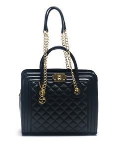 Look what I found on #zulily! Nero Quilted Leather Satchel by Carla Ferreri #zulilyfinds