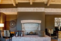 Bush tones, Constantia, Cape Town - works spectacularly with Lanes klompie bricks Fireplace Drawing, Cast Iron Fireplace, Brick Fireplace, Fireplace Design, Traditional Fireplace, Fire Pit Designs, Farmhouse Fireplace, Garden In The Woods, Modern Farmhouse Kitchens
