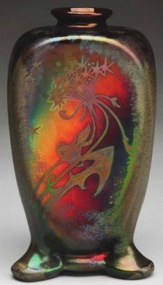 Weller Sicard Large Vase. Weller Sicard Pottery. Weller Pottery was founded by Samuel Weller in Fultonham, Ohio, United States in 1872. Jacques Sicard who introduced the metallic luster Sicardo line.
