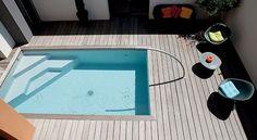 Mini piscines : 8 modèles pour les petits jardins Small Swimming Pools, Small Pools, Swimming Pool Designs, Piscina Diy, Mini Piscina, Mini Pool, Piscine Caron, Pond Tubs, Kleiner Pool Design