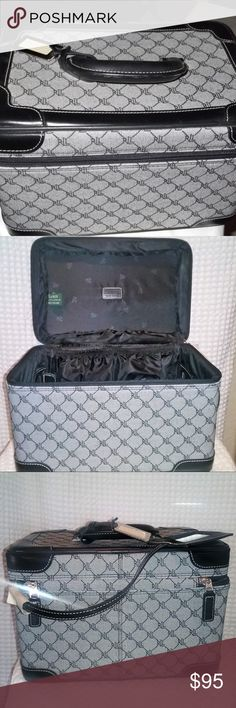 Ralph L Train Case NWOT RALPH LAUREN LUGGAGE MONOGRAM TRAVEL TRAIN CASE Makeup Signature Series 1000 RL New Never used still has wrapping around strap .. you can see in last photo Ralph Lauren Bags Luggage & Travel Bags