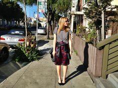 Shirt: Gap   Jacket: Bar III   Skirt: Zara   Shoes: Target   Necklace: Dogeared