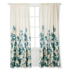 Climbing Vine Curtain Panel Golden Mist Threshold