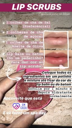 Skin Care Spa, Face Skin Care, Lip Scrubs, Beauty Care Routine, Face Care Tips, Glow Up Tips, Facial Care, Lip Tint, Tips Belleza