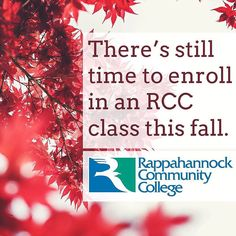 Enroll today in an RCC class  add a course in our compressed 2nd 8-Week Session: http://ift.tt/2cXYCNu #rccfall #nnk #northernneck #northernneckva #middlepeninsula #minpenva #newkent #kinggeorge #rappahannockcommunitycollege #rappahannock #community #college #comm_coll #va
