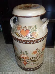 tole painted milk can