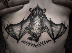 Bat Tattoo - http://www.tattooideas1.org/placement/chest/bat-tattoo-2/