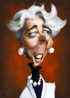 Christine Lagarde by Olle Magnusson