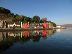 Beautiful villages tobermory scotland