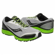 Saucony Outduel Pre/Grd Shoes (Silver/Black/Slime) - Kids' Shoes - 5.5 M