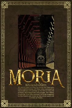 Moria Travel Poster from The Lord Of the Rings and the Hobbit - Tolkien