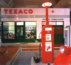 Texaco Station inside the Henry Ford Museum, Dearborn, MI. Looks just like my Dad's station when I was little!