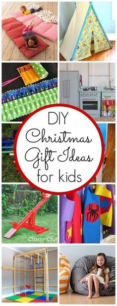 DIY Christmas Gifts for Kids.. These are so much cooler than regular gifts too!  I wish I had seen this months ago!