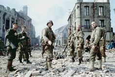 One of the best war movies ever made. Director Steven Spielberg strikes the perfect balance between feel-good sentiment (Tom Hanks, center, plays an Army captain searching for a missing paratrooper) and the grisly nightmare of battle (the film's graphic depiction of the Normandy invasion is impossible to forget). The film has been criticized as old-fashioned, but that's partly the point.