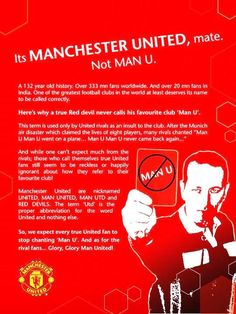 Manchester United, not Man U - never knew this | Manchester United Football Club