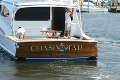 #TRANSOM: Chasin Tail, Ft Pierce #Boat #Transom #BoatTransom  TRANSOM #TECHNIQUE: #GoldLeaf #CustomGraphics    #BOAT #BUILDER #BoatBuilder: #BaylissBoatworks, #NorthCarolina