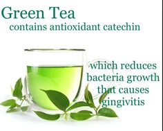 Super Smile Foods- Green Tea contains antioxidant Catechin, which reduces bacteria growth that causes gingivitis. #dentist #healthy #teeth #dentalstudiojc #supersmilefoods   Dentist in Jersey City. www.dentalstudiojc.com