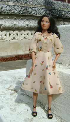 A dress I made to fit Mixis Rosa doll