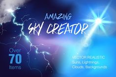 Amazing Sky Creator by Maria Averburg Studio on @creativemarket