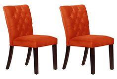 Mango Croft Tufted Side Chairs, Pair
