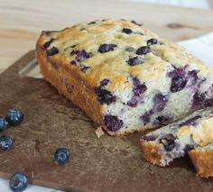 A tender and moist banana bread full of blueberries. Use fresh or frozen to make this any time of year!