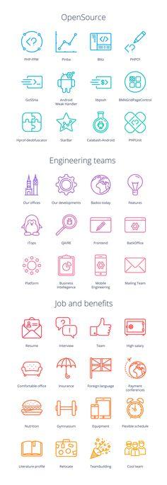 Badoo tech all icons