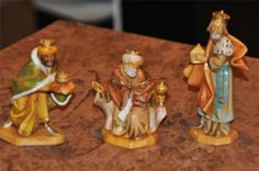 "Fontanini 3 Kings 5"" Nativity Figures 1992"