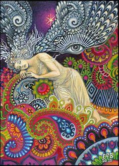 Theia déesse de la vue et la lumière céleste Art par EmilyBalivet