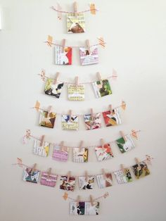 Adventskalendar in Tannenform mit Wäscheklammern - einfachen, schönes DIY