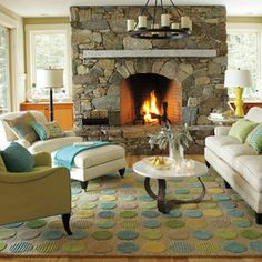Lounge Lake Living Room - beach style - living room - boston - Company C